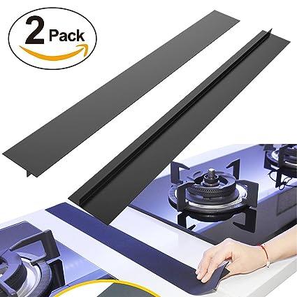BRILLIFE Kitchen Silicone Stove Counter Gap Cover, 2Pcs Long U0026 Wide Gap  Filler 21u0026quot;