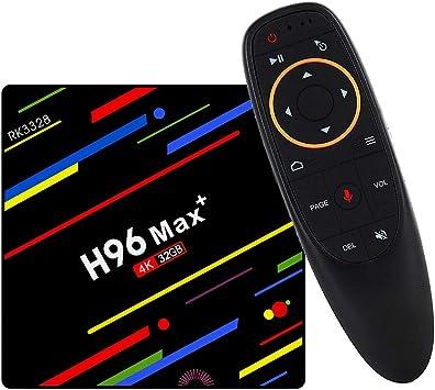DKEyinx - TV Box Android 8.1, 4K Smart TV Box con Mando a Distancia, reconocimiento de Voz