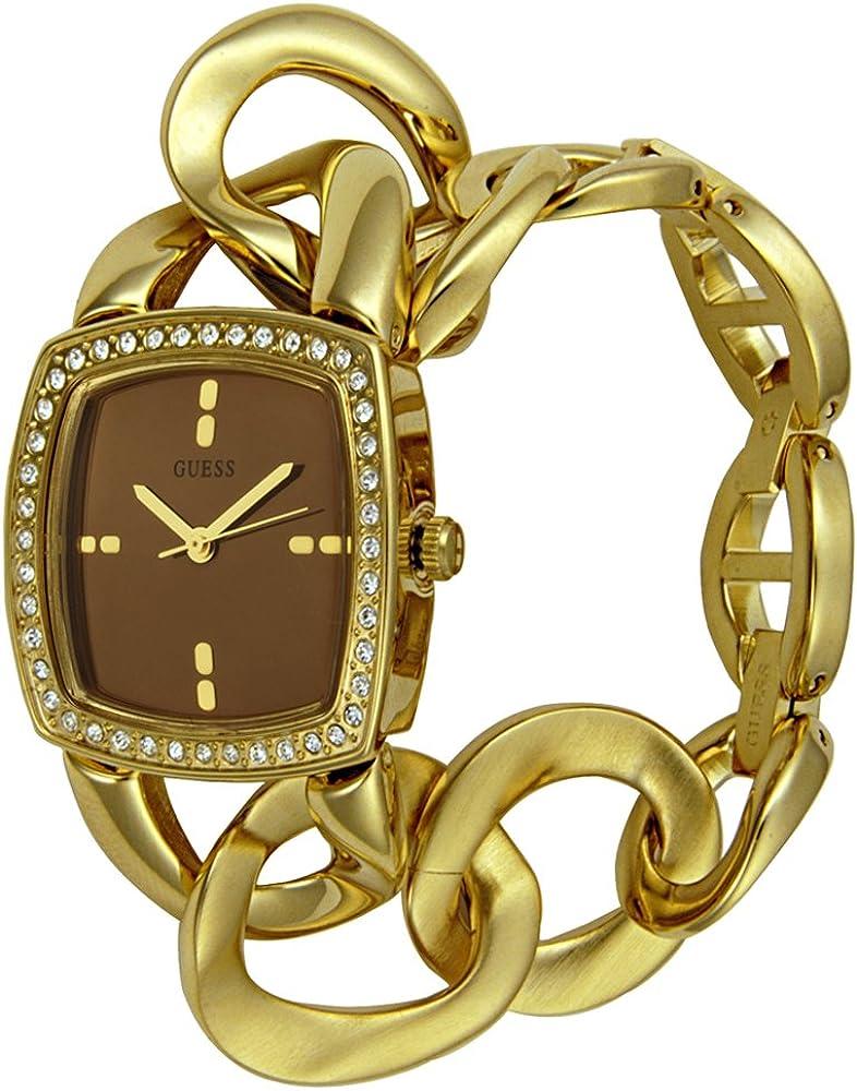 Guess Guess Ladies Jewelry 10103L1 - Reloj analógico de mujer de cuarzo con correa dorada - sumergible a 30 metros