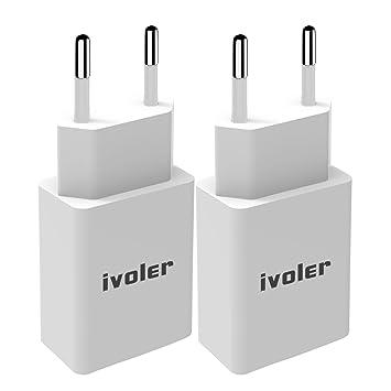 iVoler [2-Unidades] Mini Cargador (12W/2.4A) y Carga Datos ...