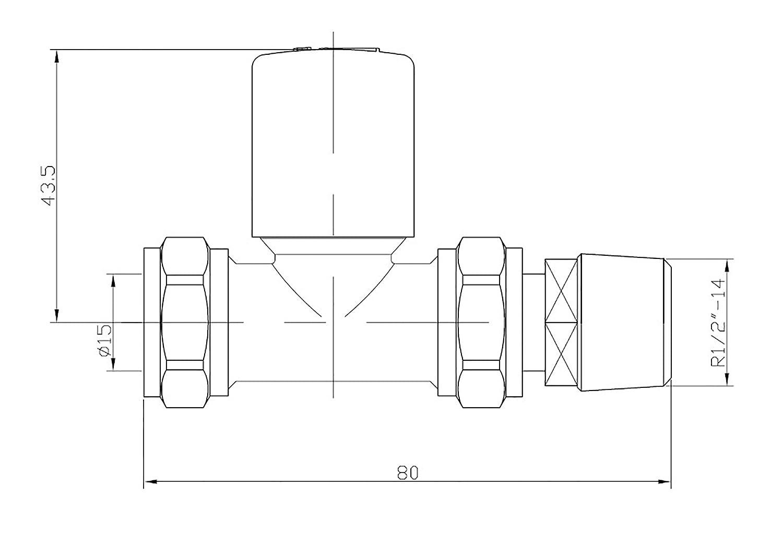 Moderno Recto Toalla V/álvulas Radiador con 15mm Conectar
