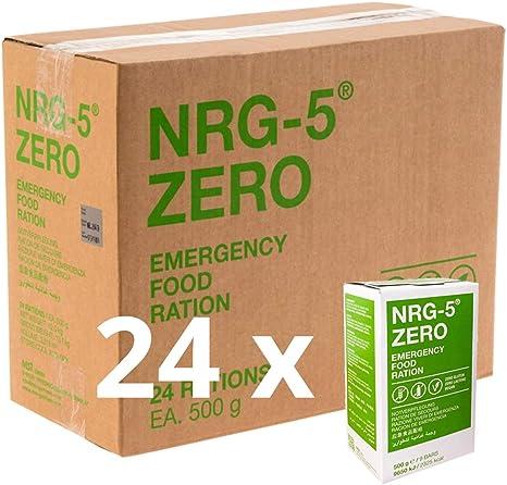 NRG-5 alimentos de emergencia sin gluten - 1 caja de 24 paquetes ...