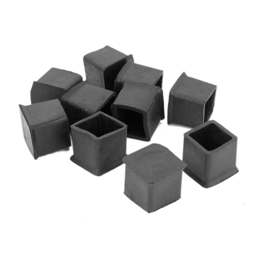 10xChair Table Leg Foot Rubber Covers Floor Protector Cap Square