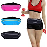 GEARWEAR Reflective Running Bag Waist Pack Fanny Pouch for iPhone 7 8 Plus X Holder Water Resistant Cell Phone Pocket for Workout Sports Walking Fitness Exercise Hiking Marathon Gym