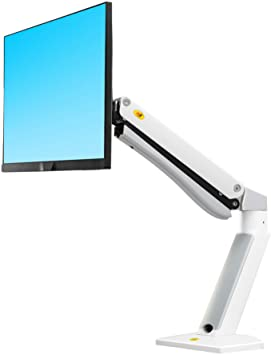"NB North Bayou Monitor Arm Desk Mounts Monitor Stand Fits 27""-40"" Computer Monitor Support Load of 4.4~33lbs with Gas Spring(White)"