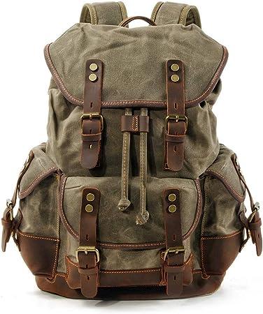 Geometric Linocut Print BackpackCanvas and leather backpackZipper BackpackBackpack Womenwaxed canvas backpack
