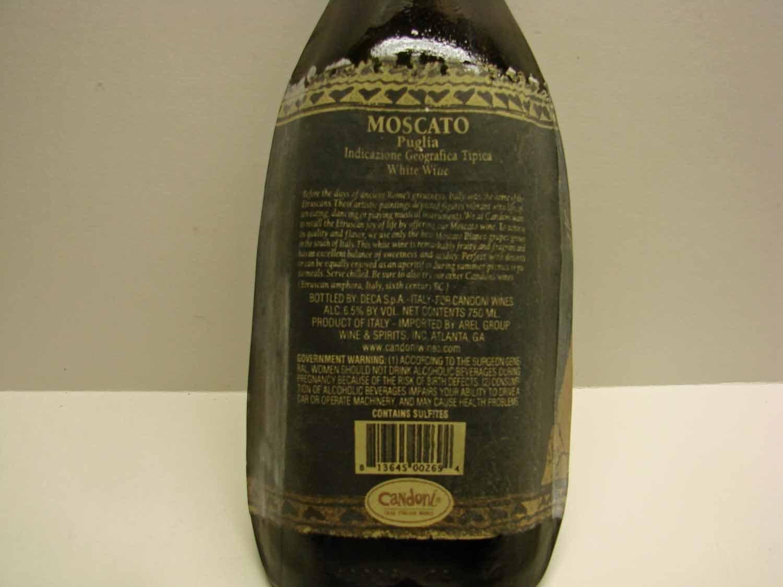 Amazon.com: Slumped Candoni Moscato Sweet White Wine Bottle ...
