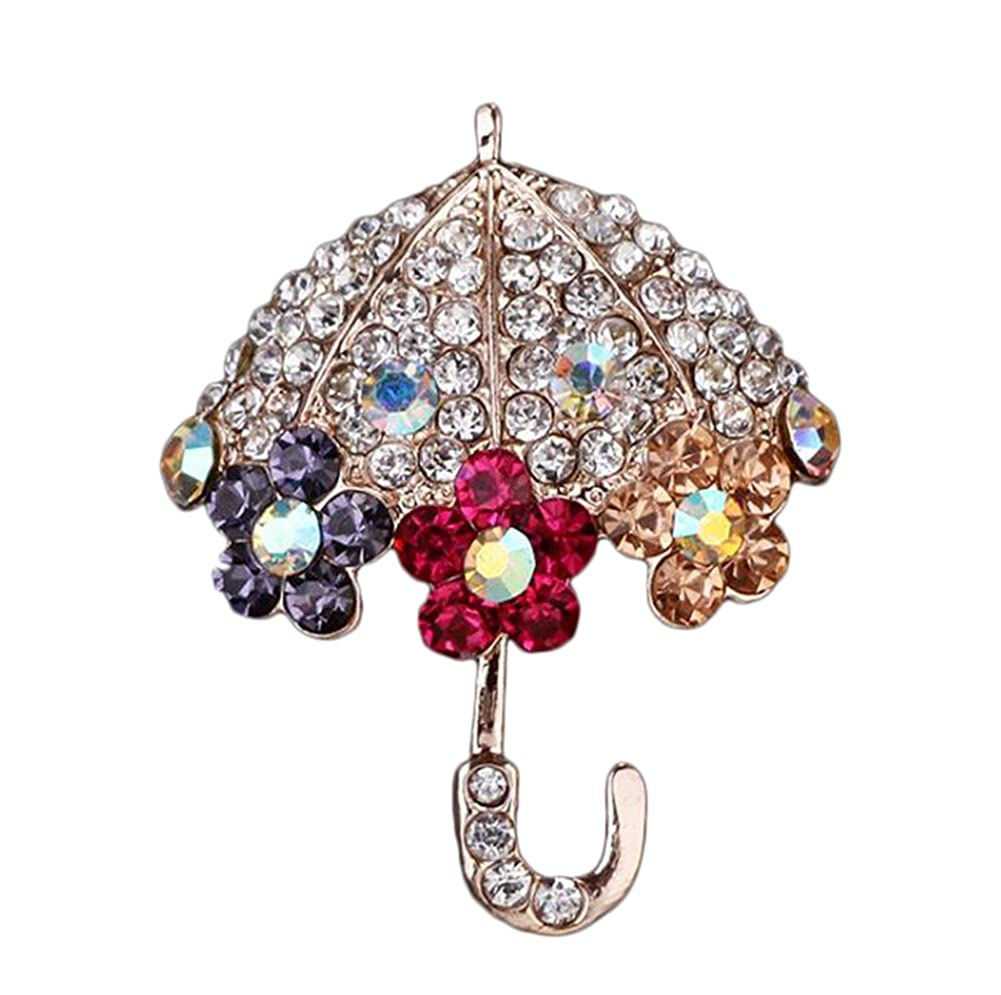 b449219a10 iTemer Woman Brooches Crystal Rhinestone Umbrella Elegant Brooch Pins Charm  Clothing Accessories Brooches For Wedding Party Christmas Decoration  ...