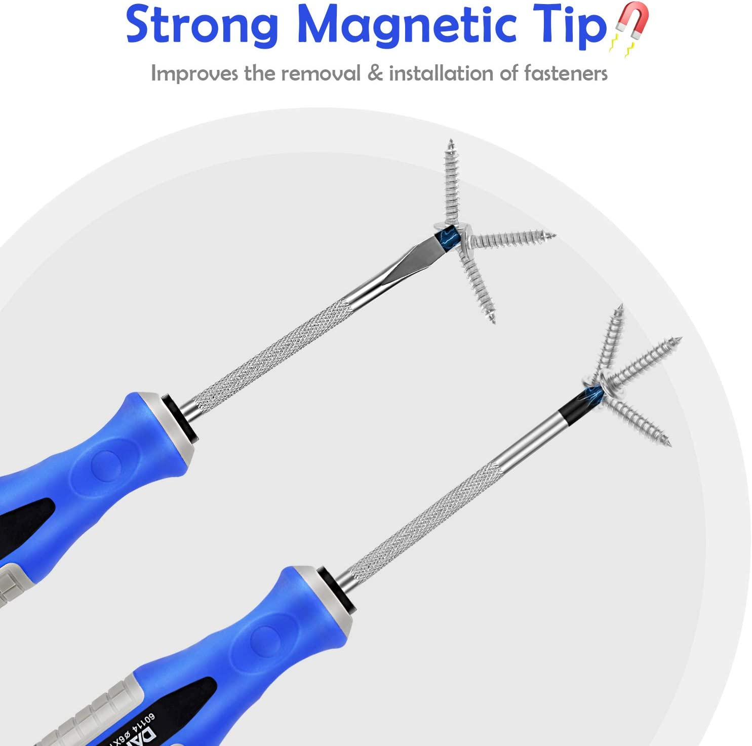 AbeTammy 2-Piece Screwdriver Set, 3.89 inch Shaft Non-Slip Grip Screwdriver Magnetic Tip 6mm PH2 Slotted/Phillips Screwdrivers, Drop Forged Chrome-Vanadium Shaft (Phillips Slotted Screwdriver Set) - -