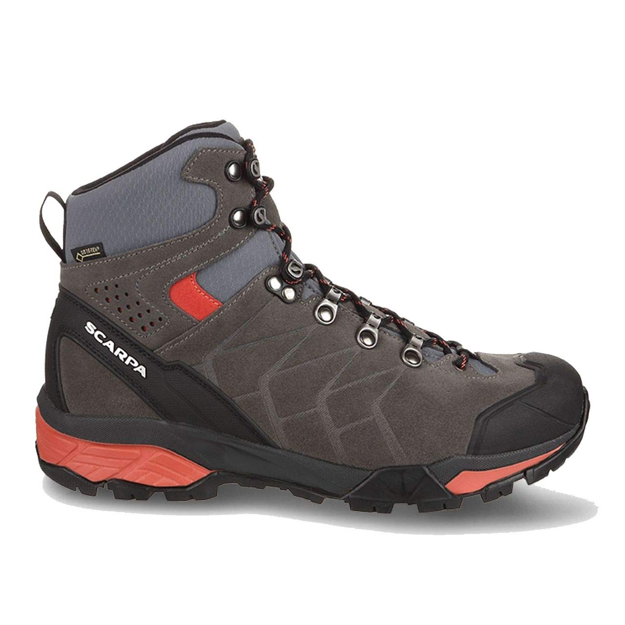 SCARPA ZG Trek GTX Backpacking Boot - Women's Titanium/Red Ibiscus, 40.0 by SCARPA