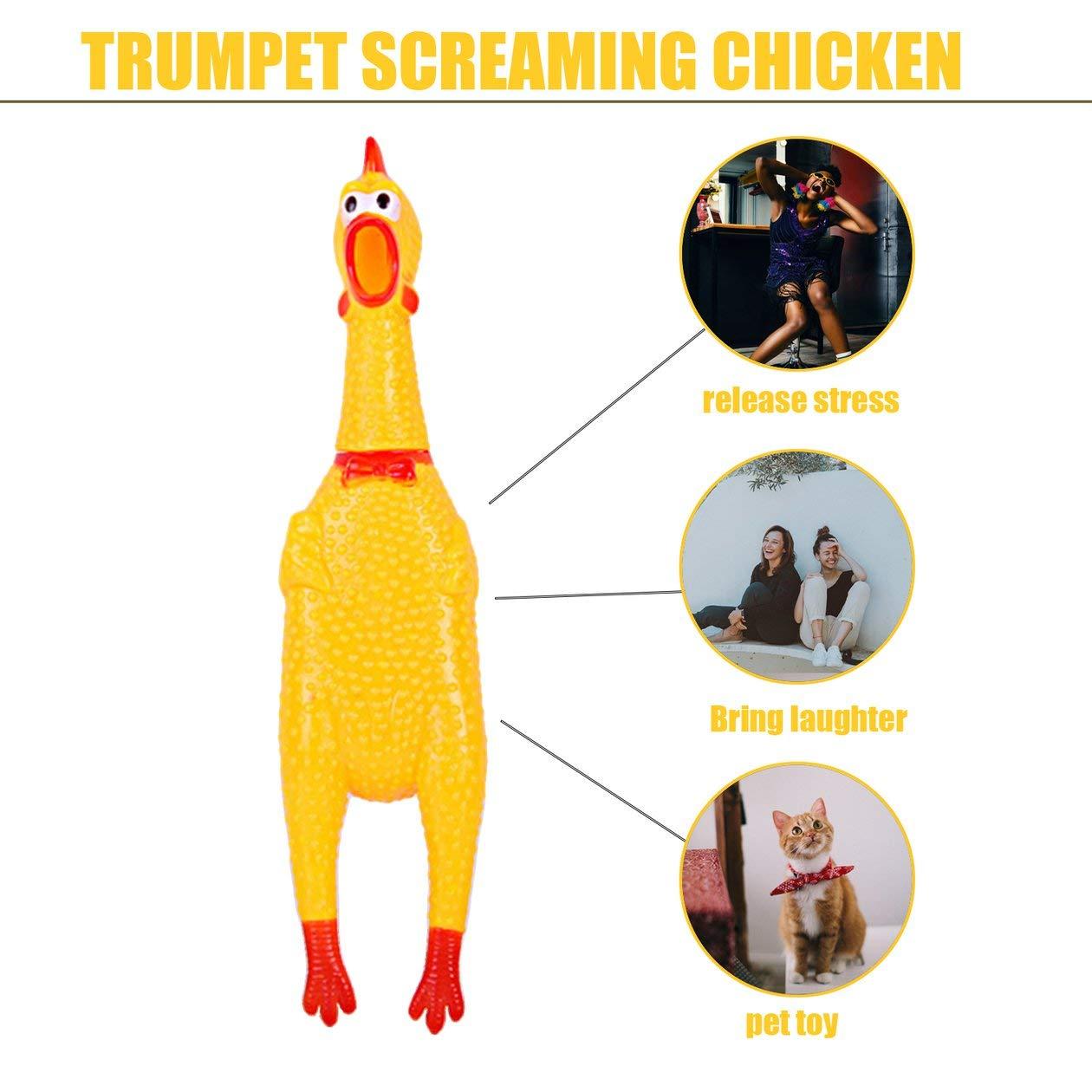 Juguete divertido para mascotas Gallo graznante Goma gritante ...