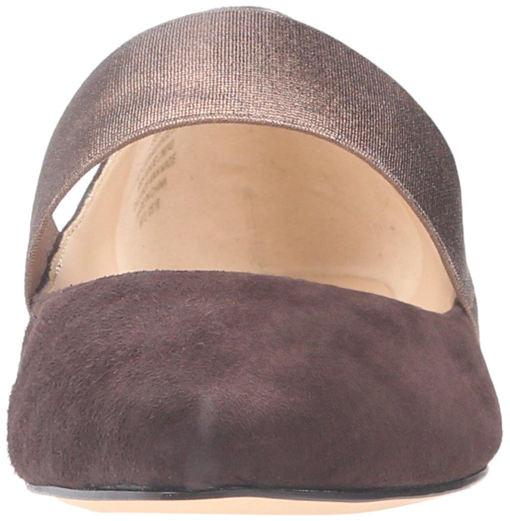 390bc36bc73 Ballet de mujer Nine West Seabrook Suede Marrón oscuro   Bronce