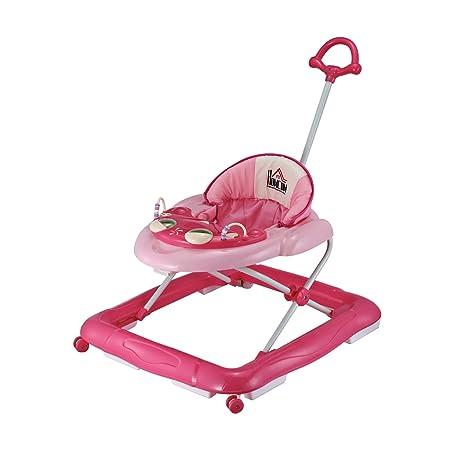HOMCOM Andador para Bebés Plegable con Freno Andador Bebé Coche ...