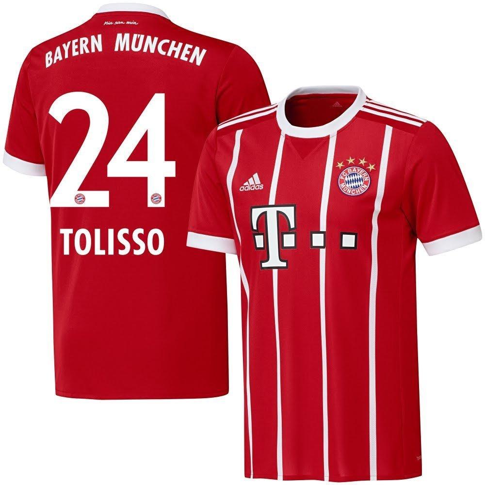 Bayern München Home Trikot 2017 2018 + Tolisso 24 - XL