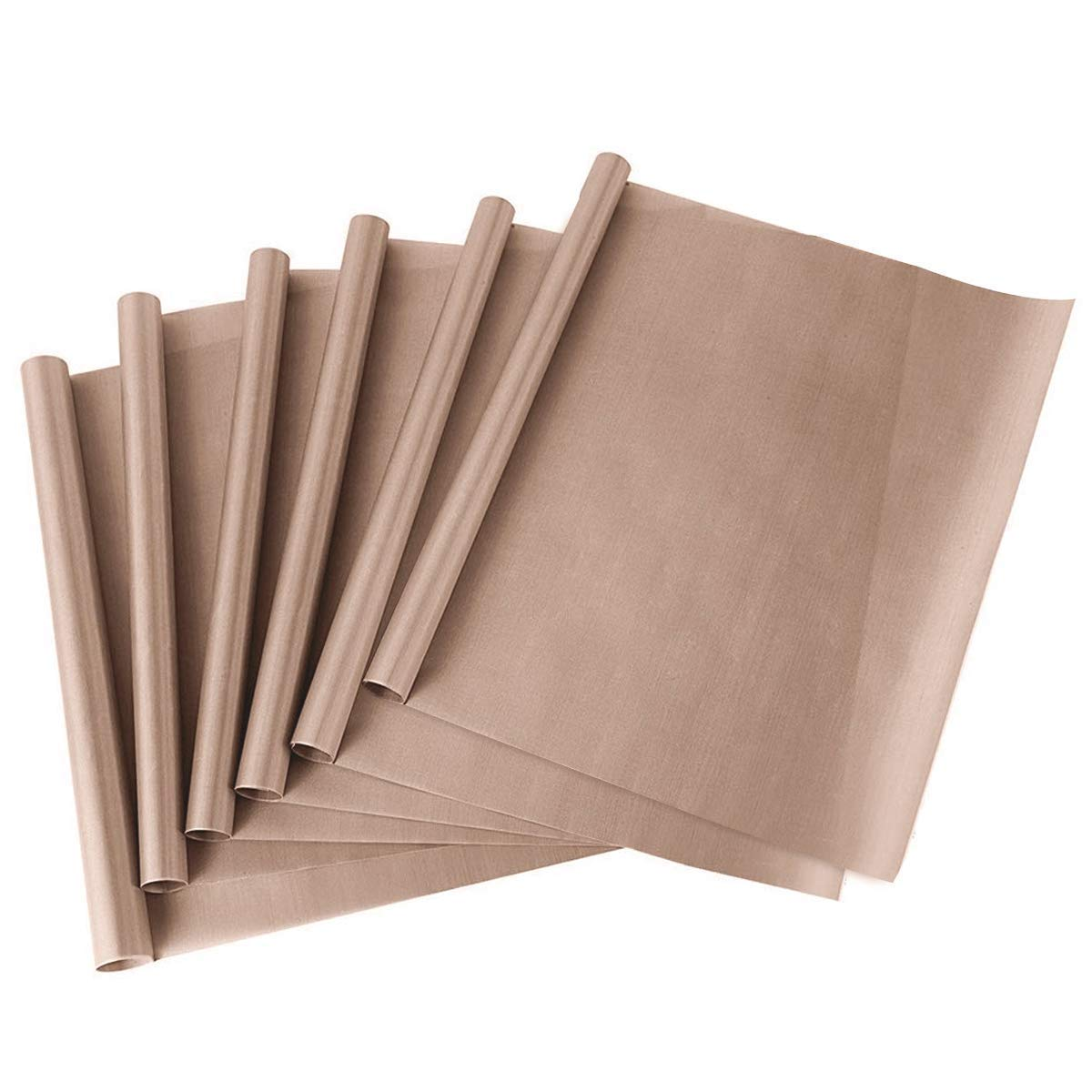 PTFE Teflon Sheet for Heat Press,Transfer Sheet - Non Stick 16 x 20 Reusable Heat Resistant Craft Mat, Protects Iron and Work Area(6 Pack) Tmtamye