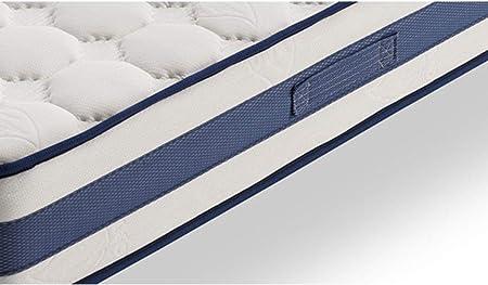 HOGAR24 Base Tapizada + Colchón Viscoelástico Visco-Medicot 3D + Almohada Fibra Resinada, 150x200 - Patas Metal 26 cm…