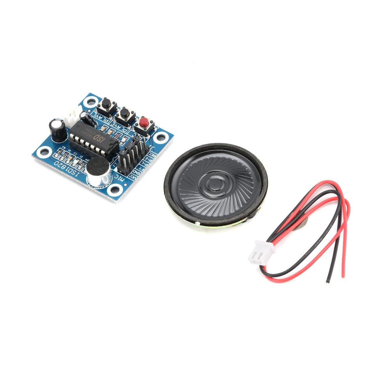 Liobaba ISD1820 10s Mic Voice Sound Playback Board Recording Recorder Module Kit Microphone Audio Speaker Loudspeaker for Arduino