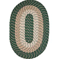 Plymouth 22 x 108 (Runner) Braided Rug in Hunter Green