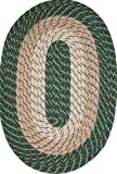 Plymouth 40″ x 60″ Braided Rug in Hunter Green For Sale