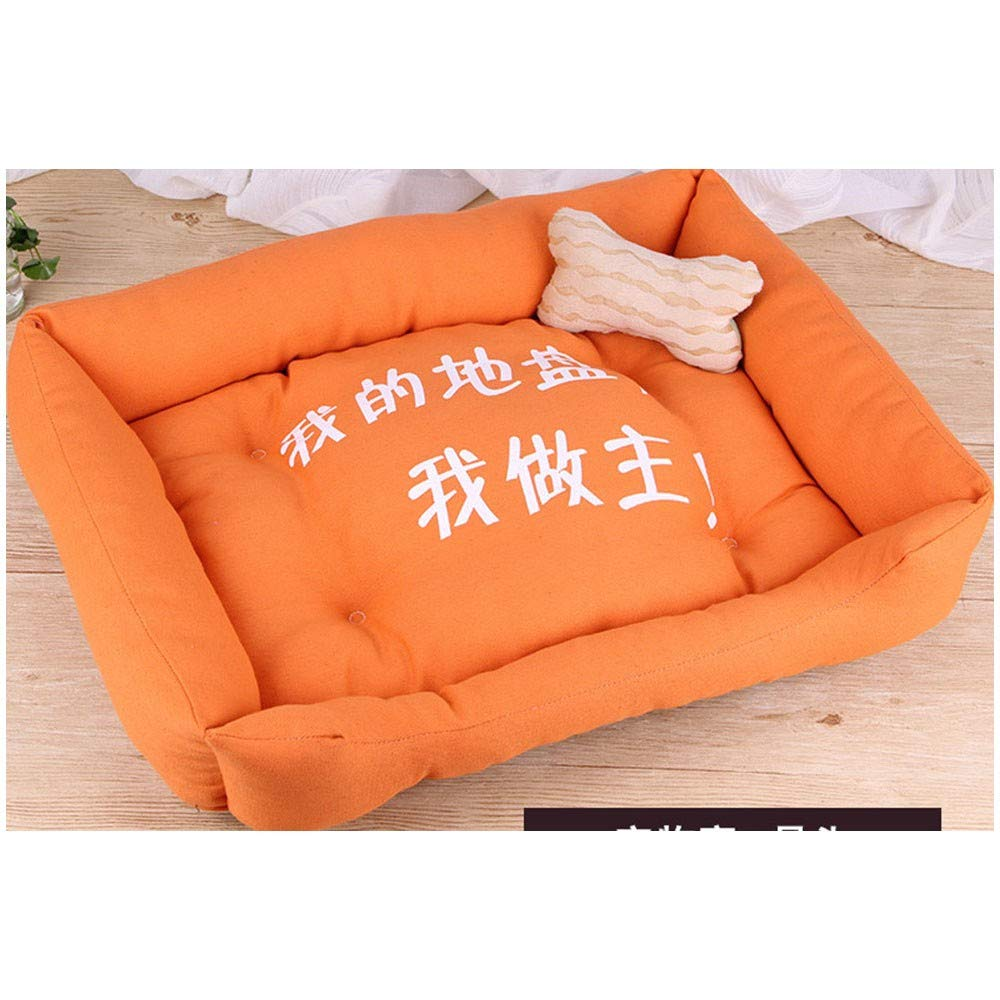orange 5040cm orange 5040cm Pet Dog Bed-Best Friends Portable Kennel Indoor Outdoor Four Seasons mat Large and Medium Small Dog Supplies Bed, 50  40cm, orange