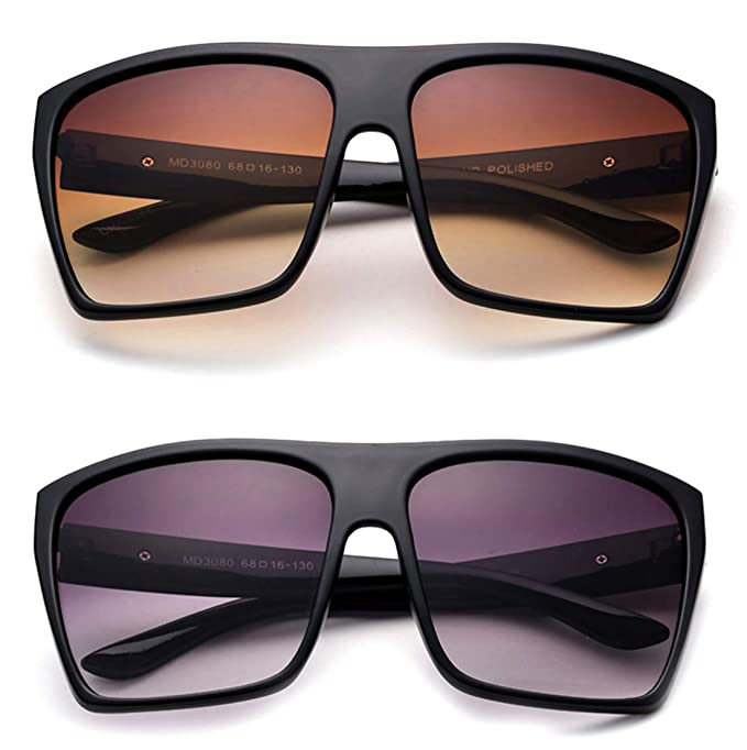 2603ef37a65 Image Unavailable. Image not available for. Color  XL Sunglasses for Men  Extra Large Retro Style Square Aviator Flat Top Sunglasses Shades