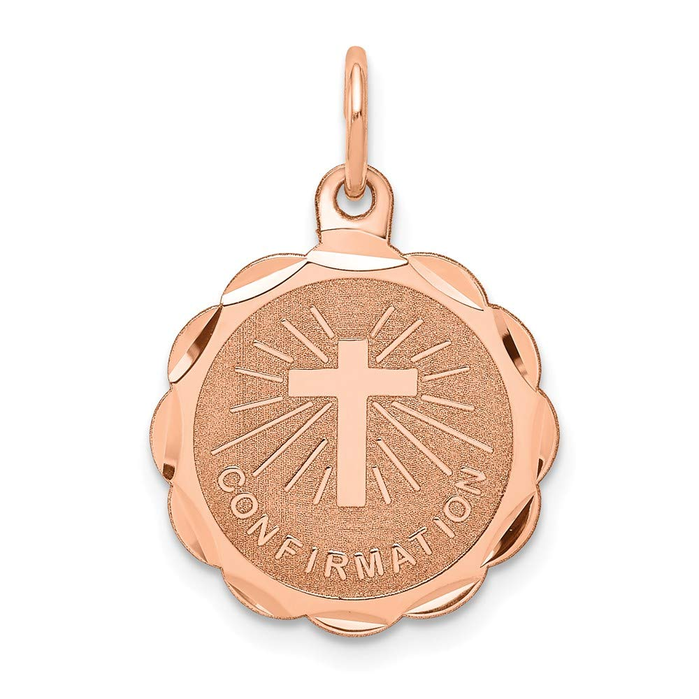Jewelry Pilot 14K Rose Gold Confirmation Disc Charm