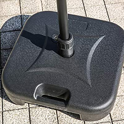 Patio Festival ® Umbrella Base Water Filled Weight Portable Plastic Outdoor Parasol Stand Heavy Duty Holder for Camping, Garden, Backyard (Small) : Garden & Outdoor