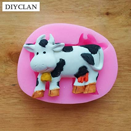 Amazon.com: 1 piece Cow silicone Mold for cake decoration animal slicone fondant molds chocolate making tools moldes de silicona para reposteria: Kitchen & ...
