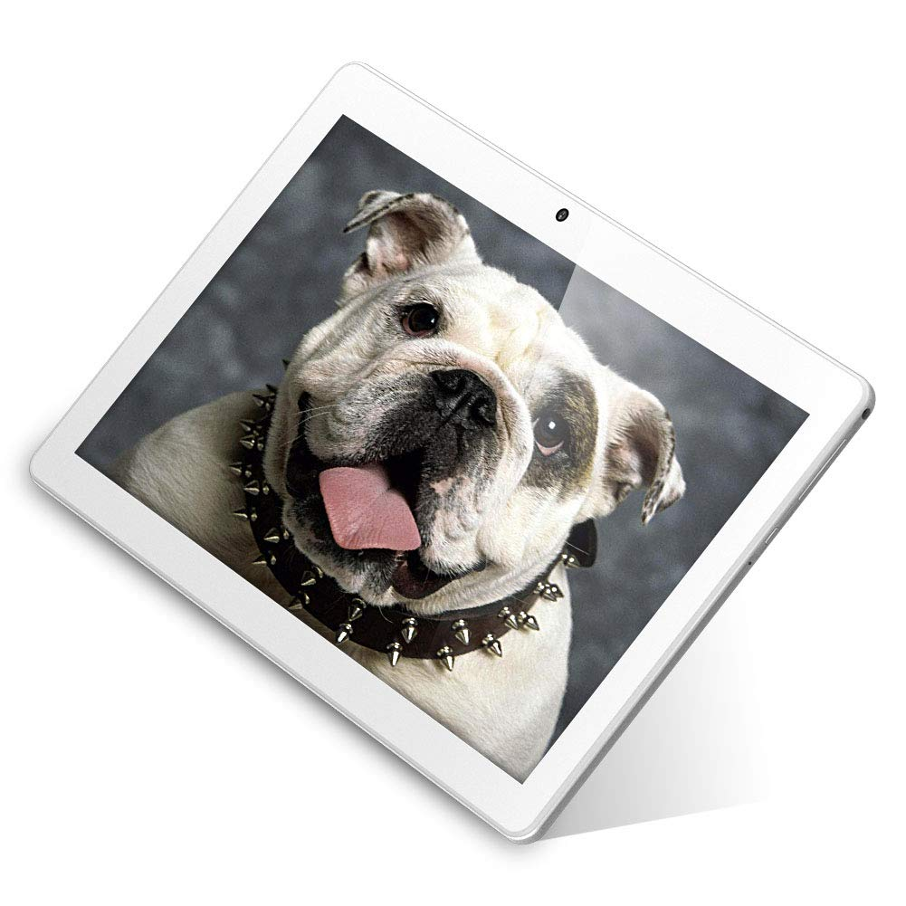 """Dragon Touch K10 10.1"""" Android Tablet 16GB WiFi GPS Tablets, Android 8.1 OS Quad Core Processor with 800x1280 IPS HD Display Mini HDMI FM - 2019 Silver"""