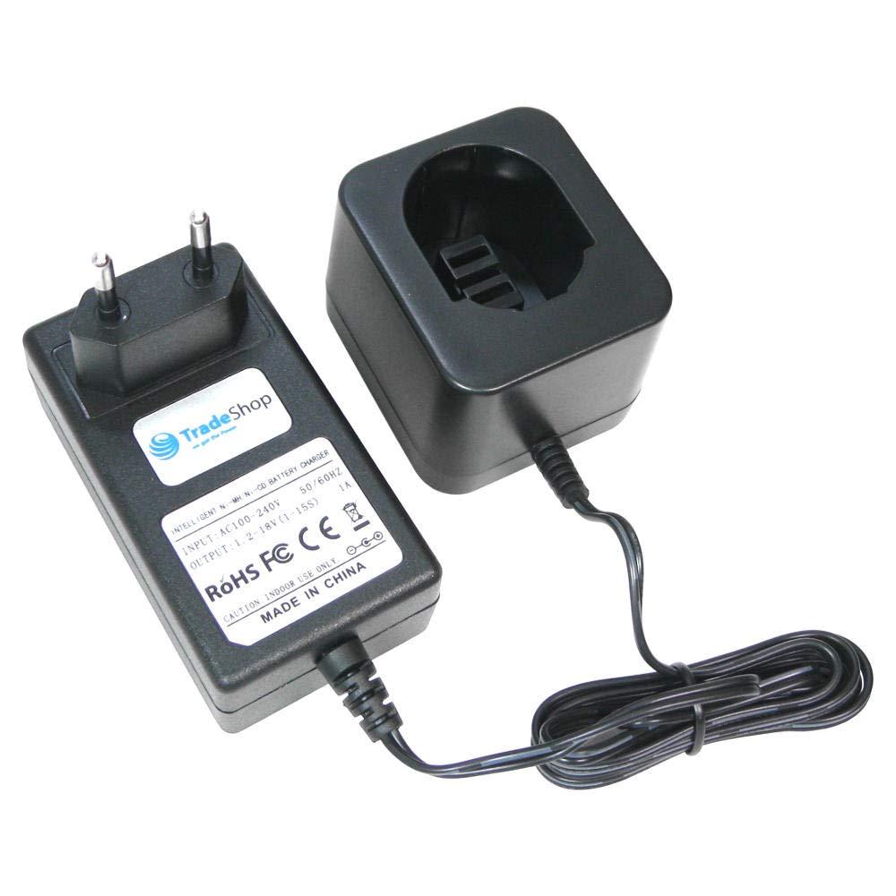 Trade Shop universal cargador de baterí a (1,2 V de 18 V Ni-Mh Ni-CD) carga cargador rá pido para Dewalt DW996KQ CD18 C, CD18CA CD18CAB CD18CBK CD180GK2, CD180 K2 DC330 DC330 K DC330KA DC330KB DC380KB