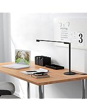 GHB Lampada da Tavolo a LED Dimmerabile Lampada da Scrivania Lampada Lettura Moderna a Intensità Variabile 5W 48LED con Luminosità Regolabile