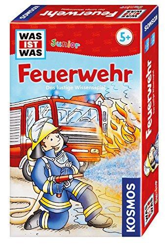 Kosmos 712556 - WAS IST WAS Juniorquiz Feuerwehr Brettspiele Kindersachbuch Jugendsachbuch Lernspiel