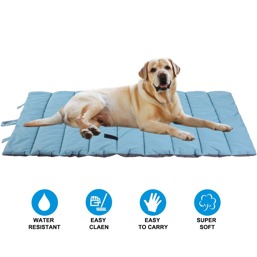 PUPTECK Waterproof Pet Bed Mats Cover for Cat & Dog Outdoor Cooling Blue Large