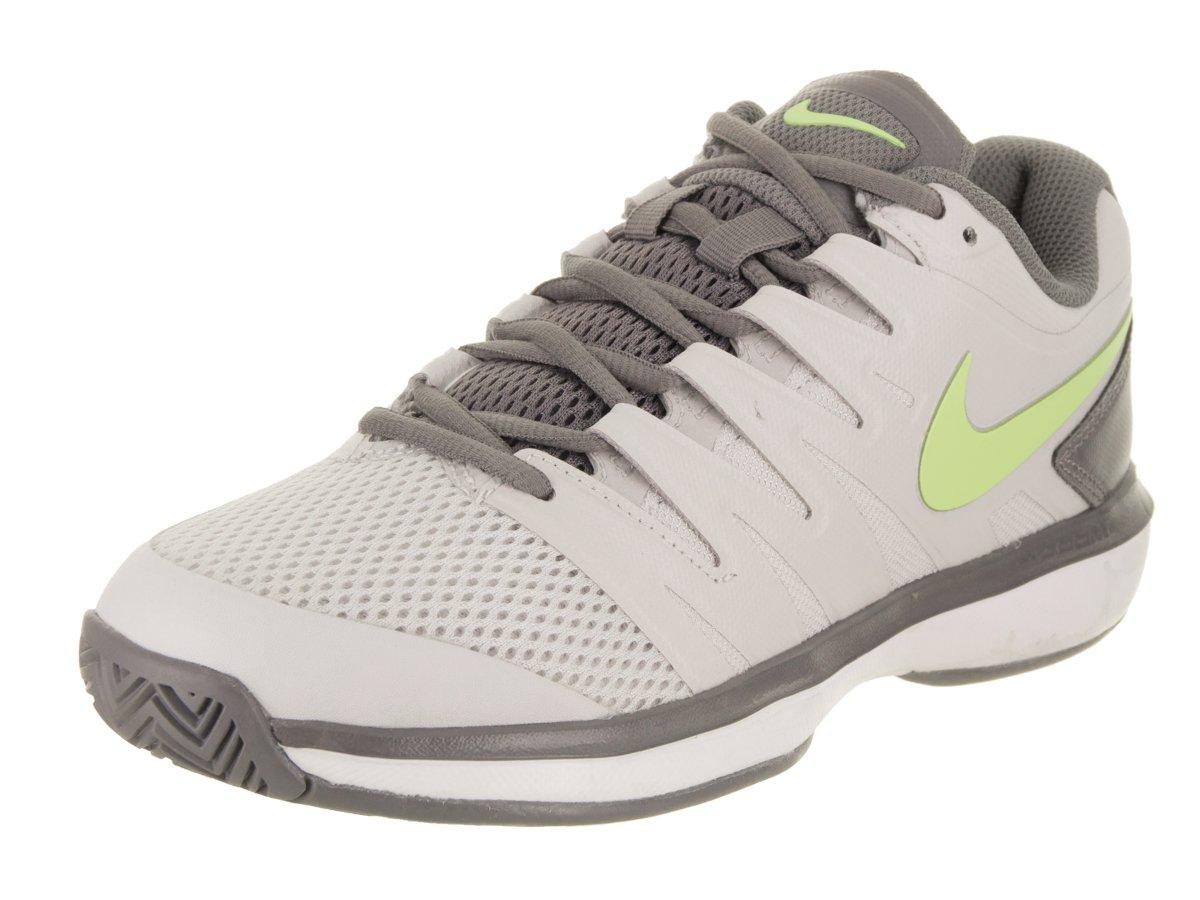 NIKE Women's Air Zoom Prestige HC Vast Grey/Volt Grow/Gunsmoke Tennis Shoe 9 Women US