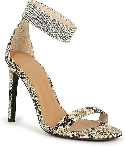 Women/'s Ladies Stiletto High Heel Sandals Ankle Strap Cuff Peep Toe Shoes Size 7