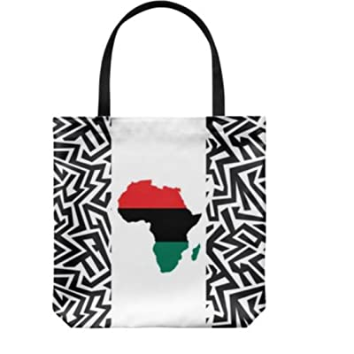 "18""x18"" Casual Black Woman African Natural hair tote bag by ThemWords. Spacious.Various Colors."