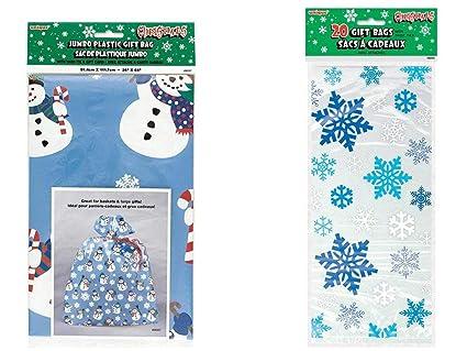 Amazon Com Unique Industries Plastic Jumbo Snowman Bag