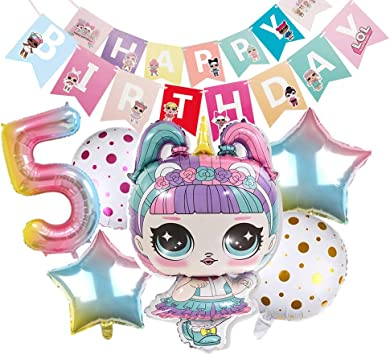 LOL Partys Balloons Surprise Birthday Balloon - Lol Birthday Party Decorations- Bouquet Decorations Surprise Doll Balloons - Birthday Party Supplies ...