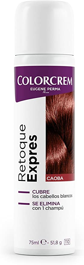 Colorcrem Retoque Expres Tinte Retoca Raíces Expres Spray, Caoba, 75 Mililitros