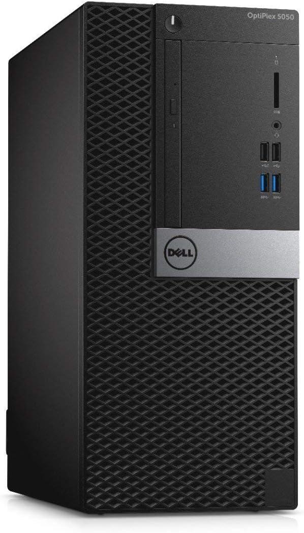 Dell OptiPlex 5050 Mini Tower (Intel Core 7th Generation i5-7500, 16GB DDR4, 256GB SSD) Windows 10 Home (Renewed)