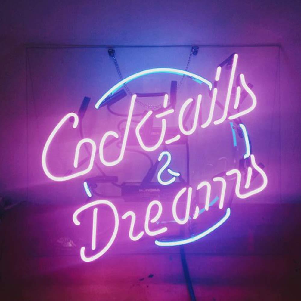 Cocktails and DreamsビールバーパブStore担任パーティーDecor Neon Signs 19 x 15   B078JJCNTC