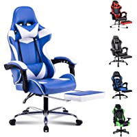 ALFORDSON Gaming Chair Racing Chair Executive Sport Ergonomic Office Chair with Footrest PU Leather Armrest Headrest…