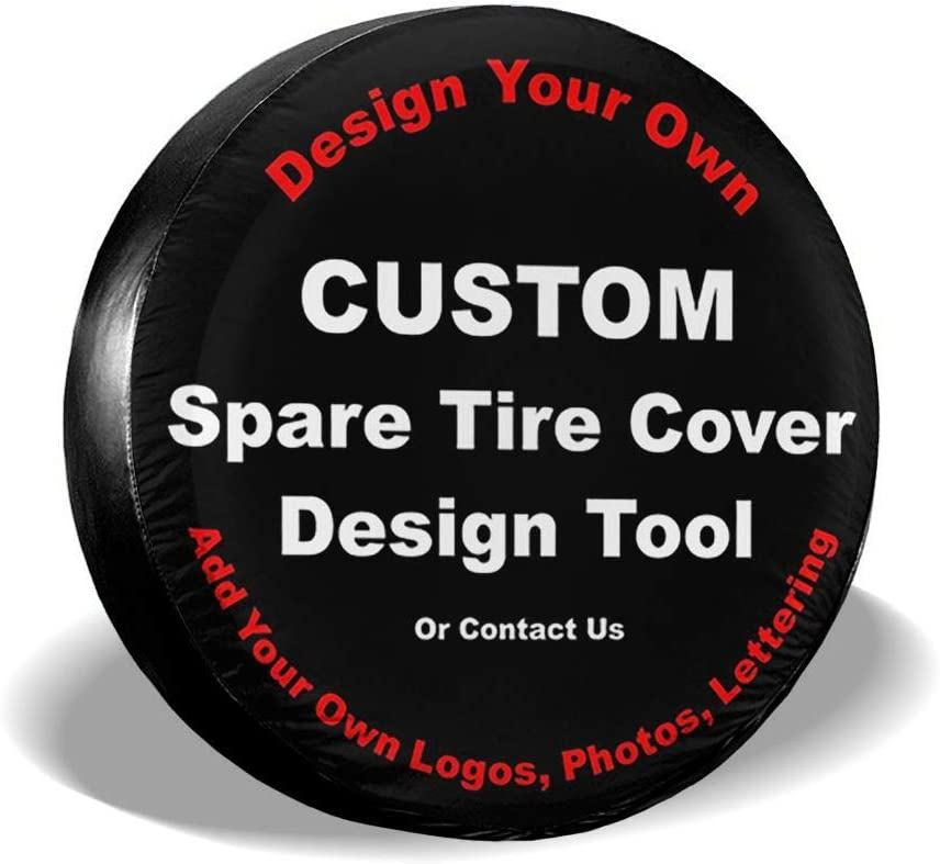 SDJGNSSDF Custom Spare Tire Covers Select Tire Size in MENU Potable Corrosion Wheel Covers Sun-Proof for Jeep Trailer RV SUV and Many Vehicle Truck Camper Travel Trailer Accessories