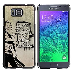 Paccase / SLIM PC / Aliminium Casa Carcasa Funda Case Cover para - Graffiti Stencil Street Art Occupy Freedom - Samsung GALAXY ALPHA G850
