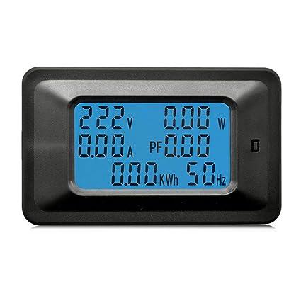100A AC LCD Digital Panel Power Watt Meter Monitor Voltmeter ...
