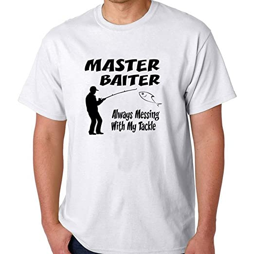 ca8483b0d Amazon.com  Master Baiter T-shirt For Men XXL White (6225325372333)  Books