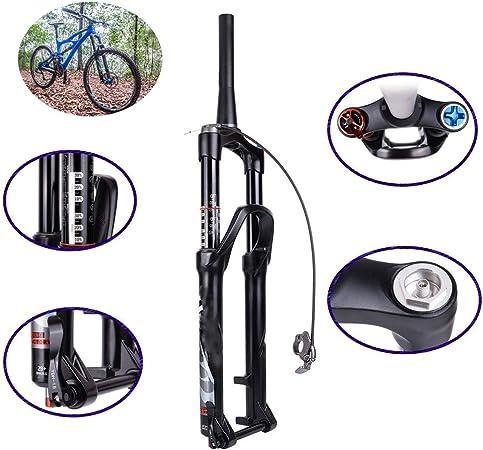 NBMN Horquilla de Aire 27.5/29 Pulgadas Horquilla Delantera Bicicleta Montaña Línea Controlar/Control Hombro Horquilla Neumática para Bicicleta Montaña/MTB, Itinerario: 140 MM: Amazon.es: Hogar