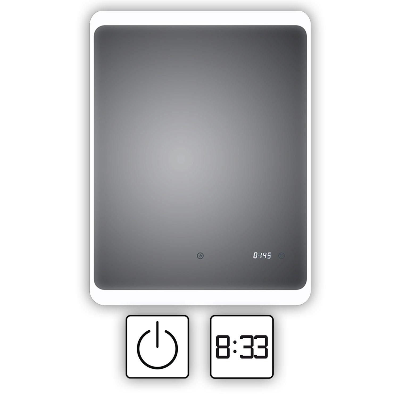Energieklasse A+ Duisburg 60x80cm HOKO/® LED Badspiegel mit ANTIBESCHLAG SPIEGELHEIZUNG und digitaler Uhr Badezimmerspiegel mit Uhr WEEE-Reg. Nr.: DE 40647673