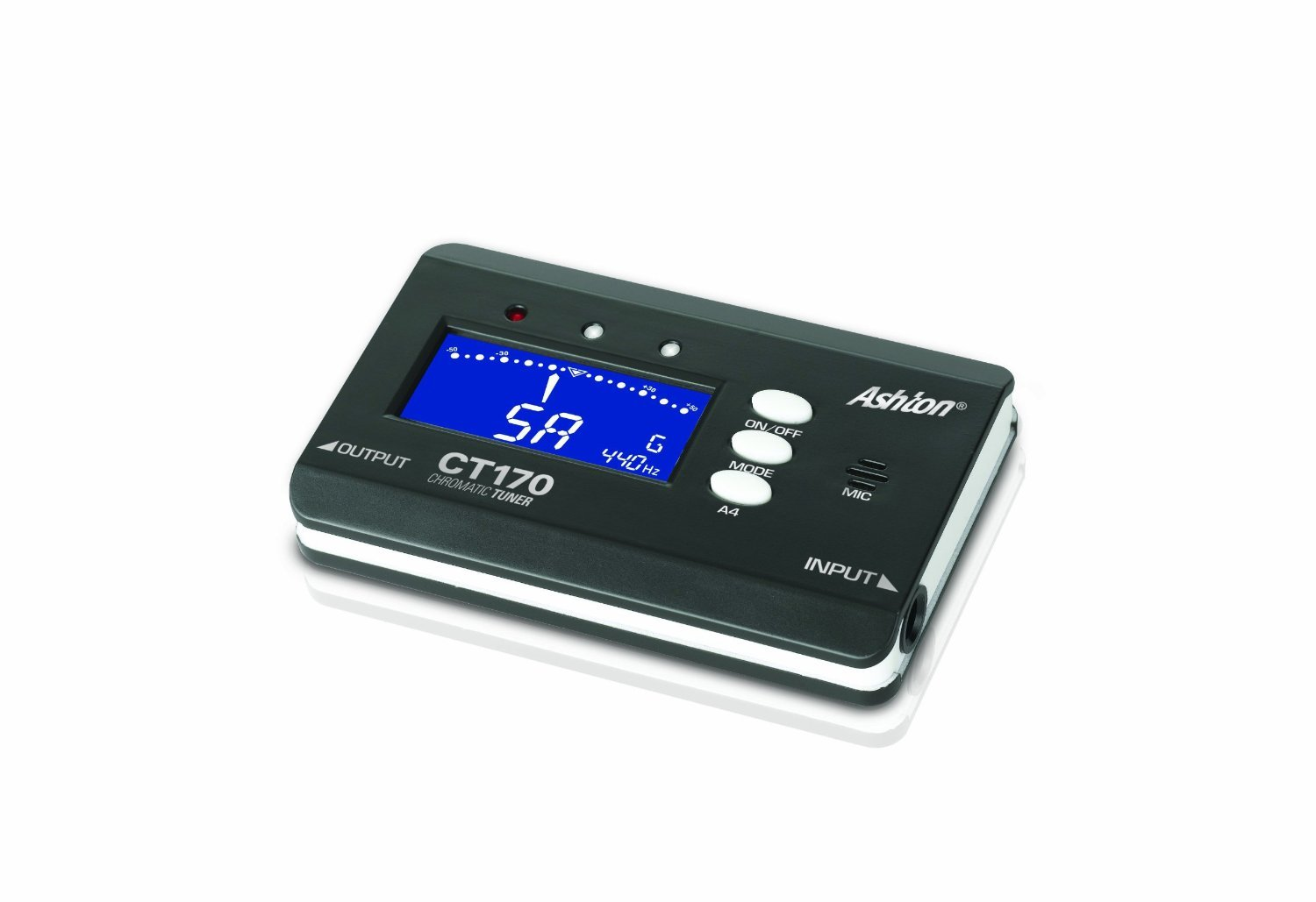 Ashton CT170 Chromatic Tuner for Guitar and Bass