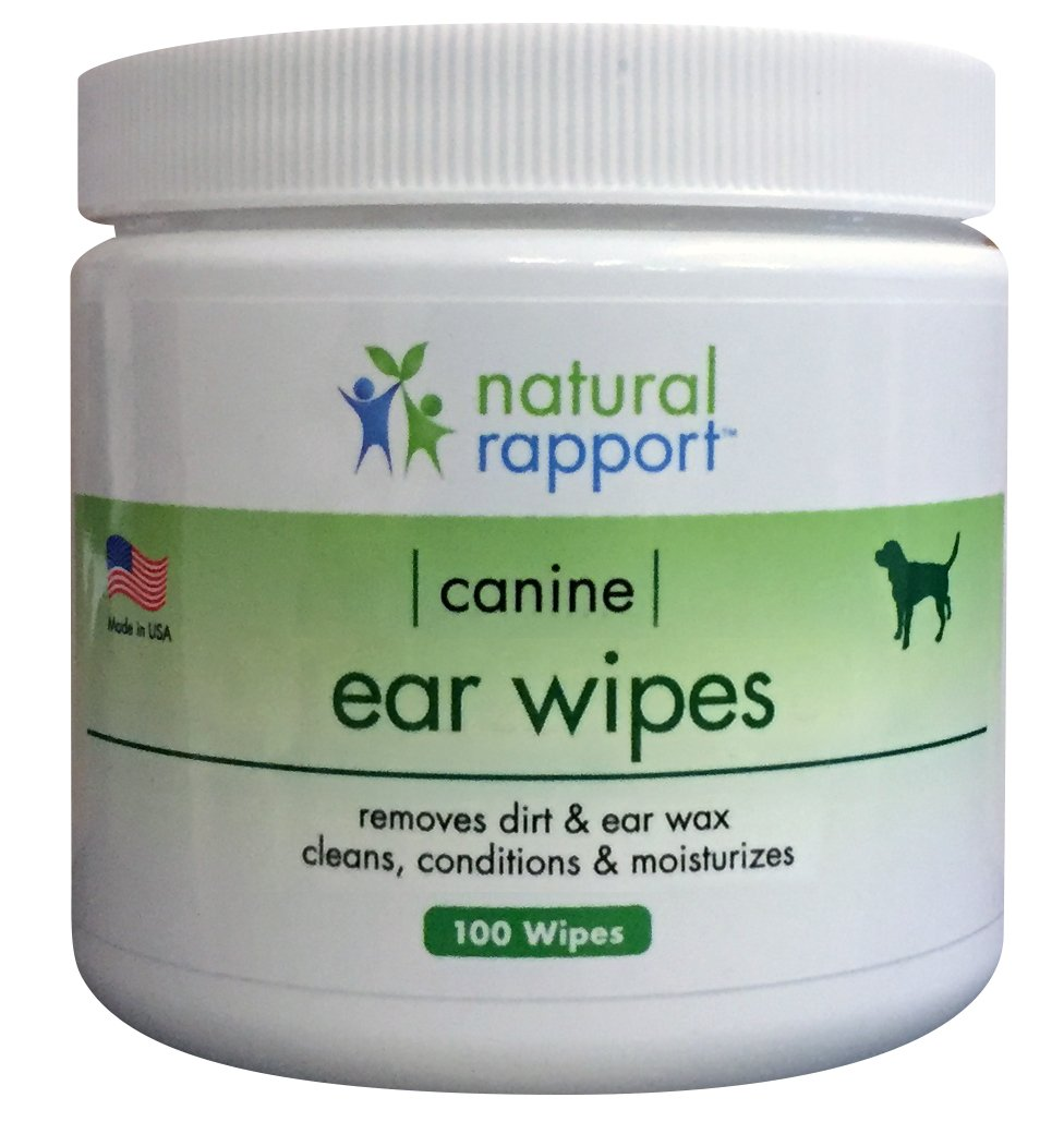 Dog Ear Wipes - 100 Count - Best Dog Ear Infection Aid - Dog Ear Cleanser Solution to Wash Debris and Wax from Dog Ears - Safe for Puppies - Cleans, Deodorizes, & Eliminates Odors, Made in USA